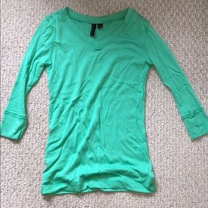 Cotton shirt with 3/4 length sleeves